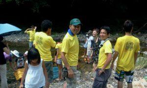 2011年8月7日 川遊び教室を開催、講師を務める