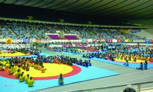 2012年7月22日 ロンドン五輪日本代表選手壮行会(東京国立代々木競技場)に参加
