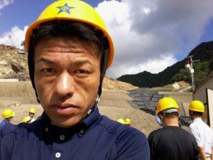 2013年10月11日 紀伊半島大水害の熊野地区土砂災害 復旧工事見学会に参加