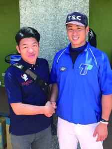 台湾野球視察にて 和歌山出身の西田選手と