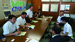 2017年8月31日和歌山県議会 改新クラブ県内視察「南紀支援学校・はまゆう支援学校視察」のようす