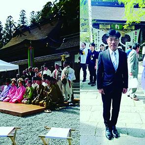 2018年4月12日に熊野本宮大社の例大祭に参加する谷口和樹