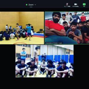 2020年10月21日 和歌山県レスリング協会のインド・マハラシュトラ州レスリング協会とのWeb技術交流