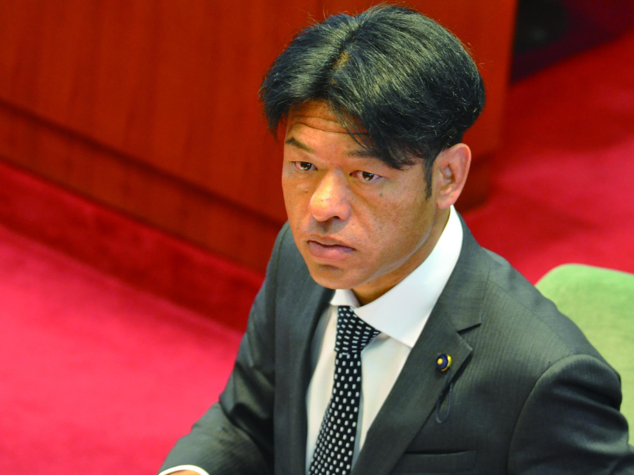 2017年2月議会に登壇した谷口和樹