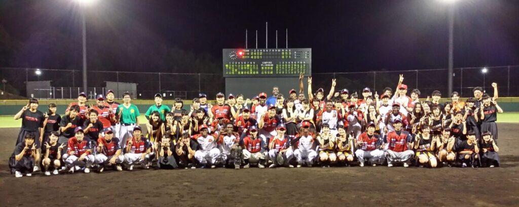 2016年7月27日に田辺スポーツパークで行われた西アフリカ対田辺西牟婁選抜の野球チームの集合写真