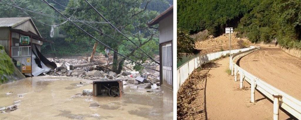 2011年紀伊半島大水害の様子
